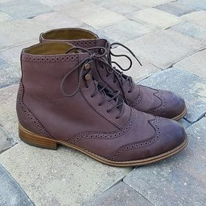 Sebago Claremont Brogue Burgundy Lace Up Boots 8.5